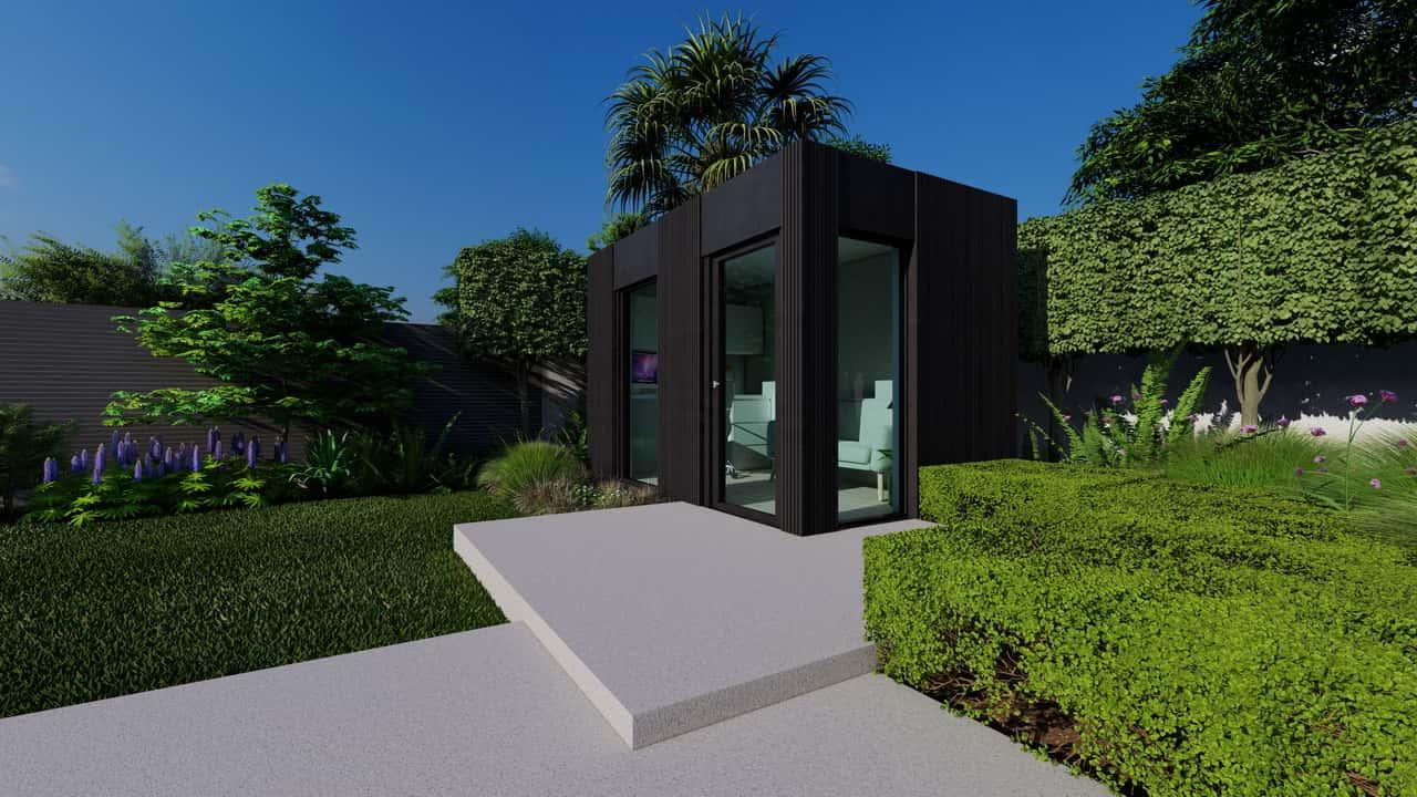 alpha black garden room